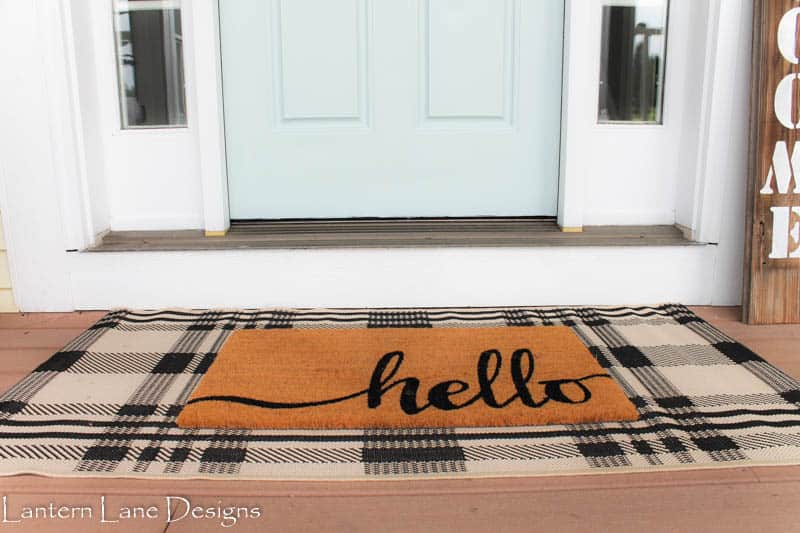 Adding rug to front porch