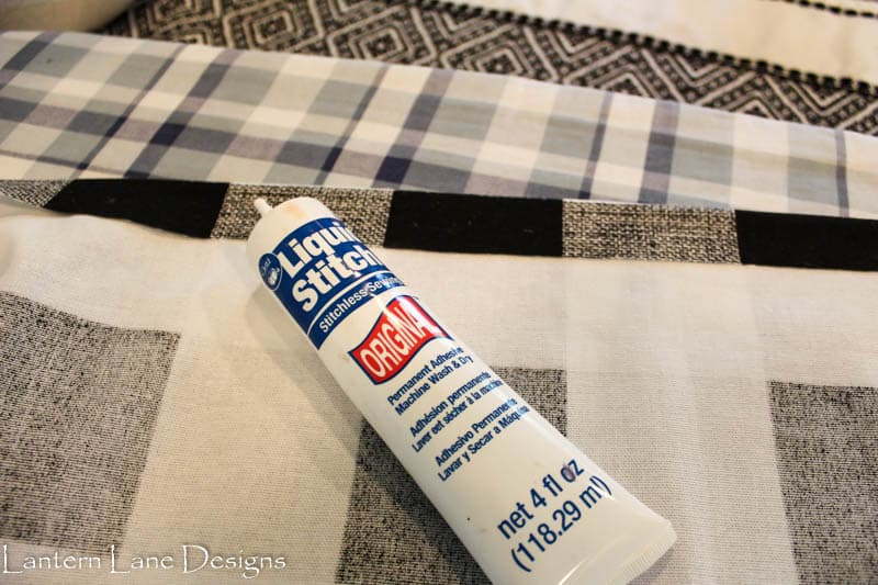 How to hem fabric with fabric glue