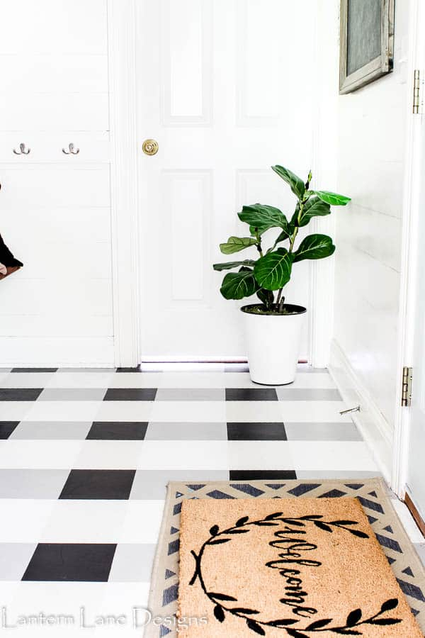 DIY Painted Floors|How To Paint Your Vinyl Floors|#diyhomedecor #diy