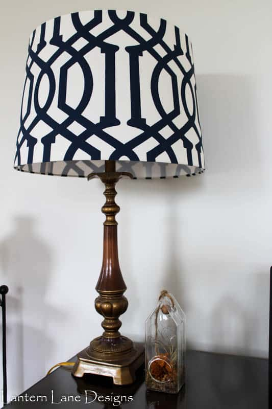 DIY chalk painted lamp