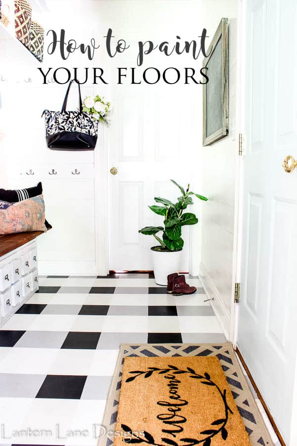 DIY Painted Floors|How to paint your vinyl floors to last|#diyhomedecor #homedecor