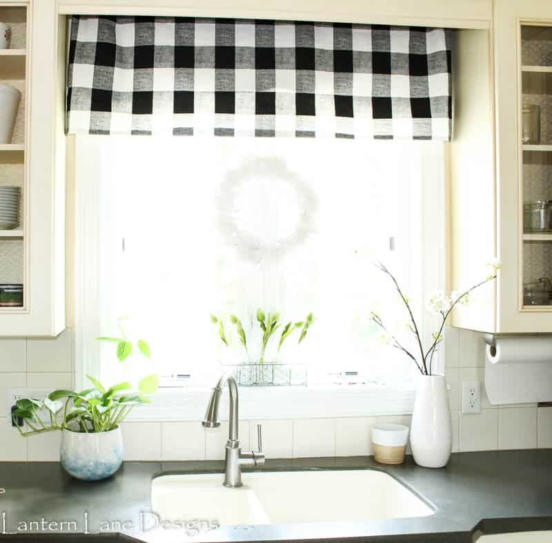 How to make a no sew kitchen valance