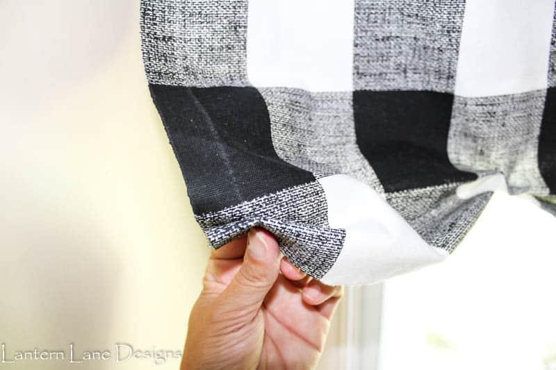 How to make a no sew valance