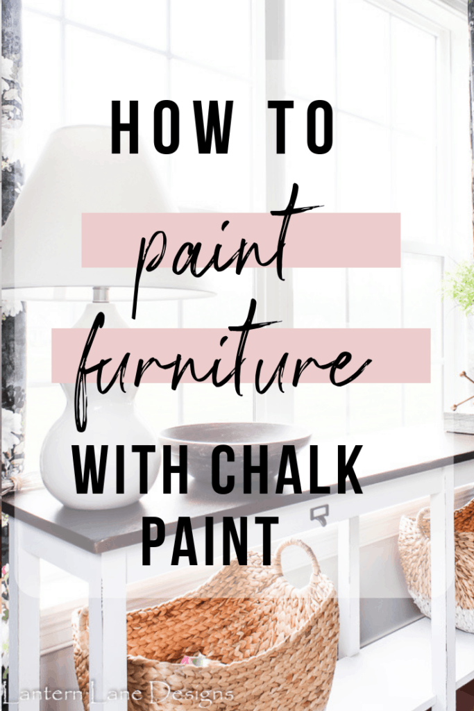 Painted console table using chalk paint