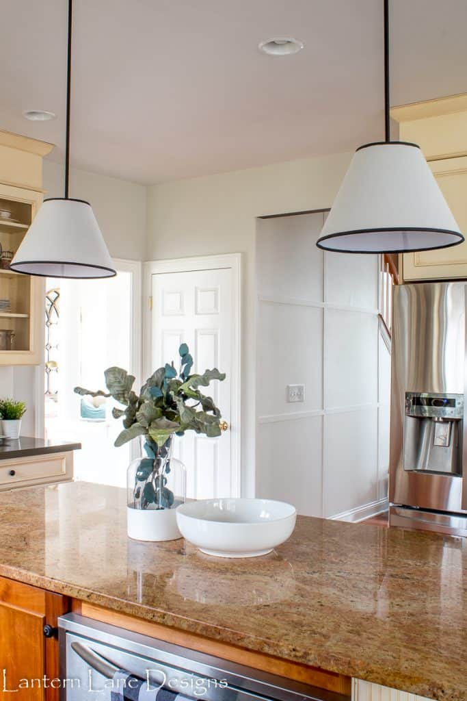 DIY Pendant Lights Using Lamp Shades