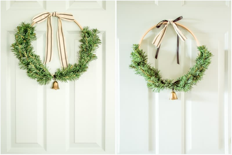 DIY Christmas Wreath two ways