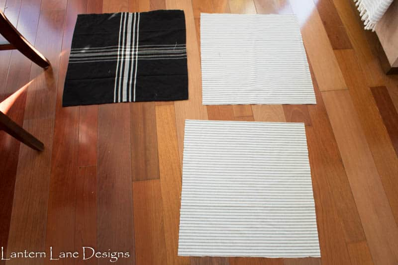 No sew pillow using napkins