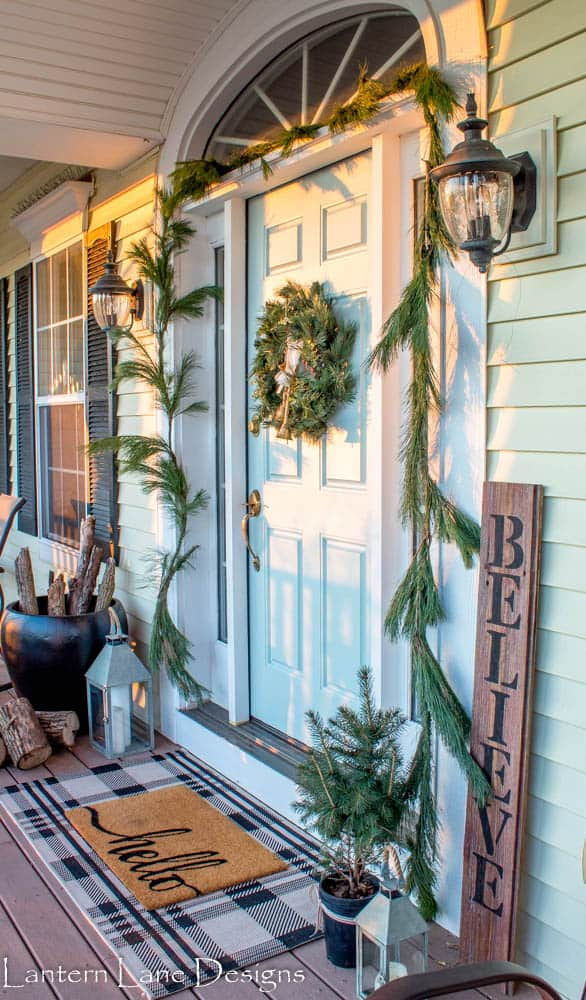 Front Porch makeover for Christmas
