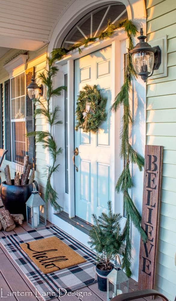 Christmas Front Porch Decor Ideas #homedecor