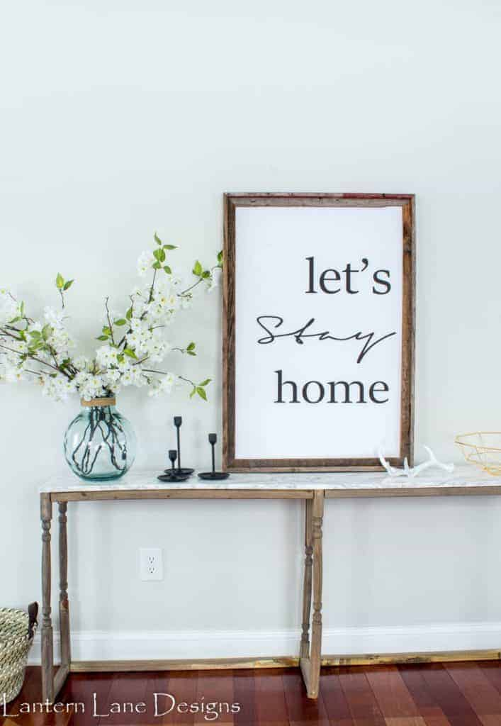 Free Let's Stay Home Printable