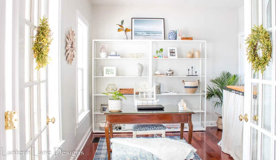 Office and Laundry Room Makeover using FJALKINGE shelves