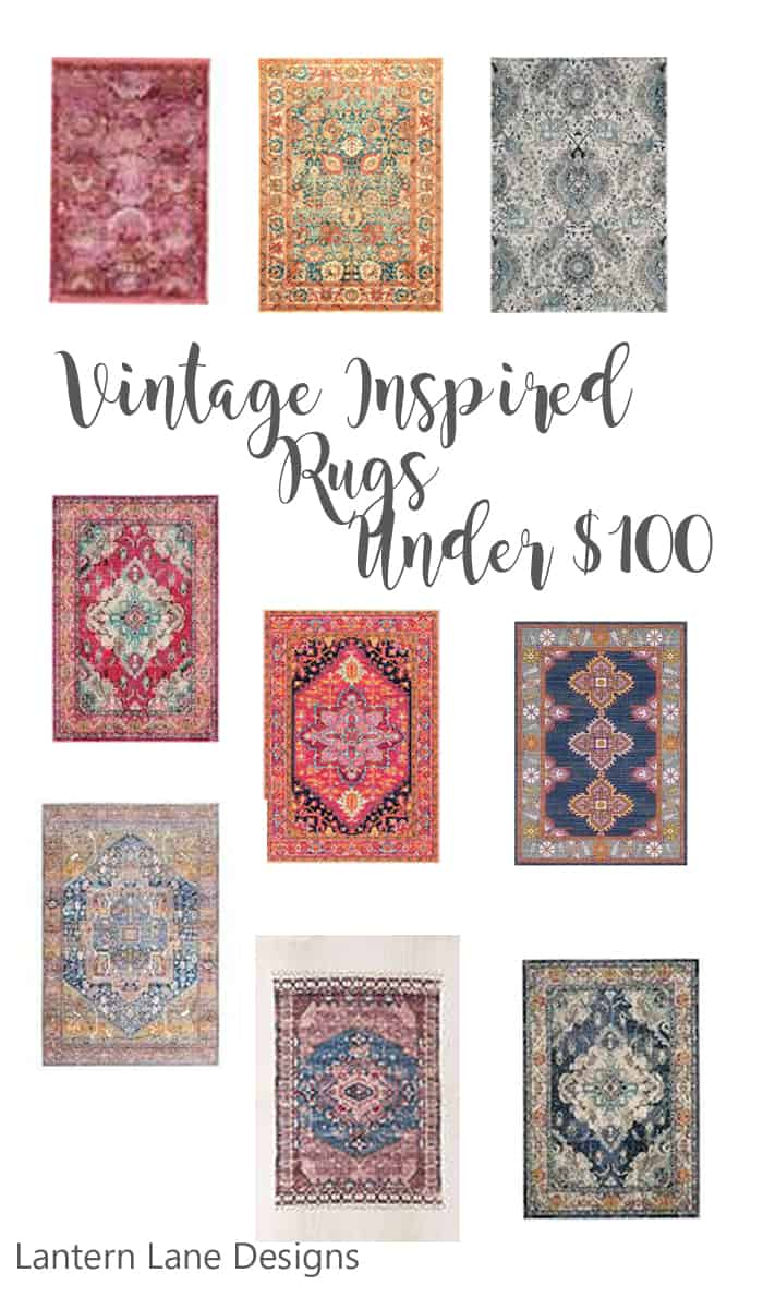 Affordable Vintage Inspired Rugs Under $100 #homedecor