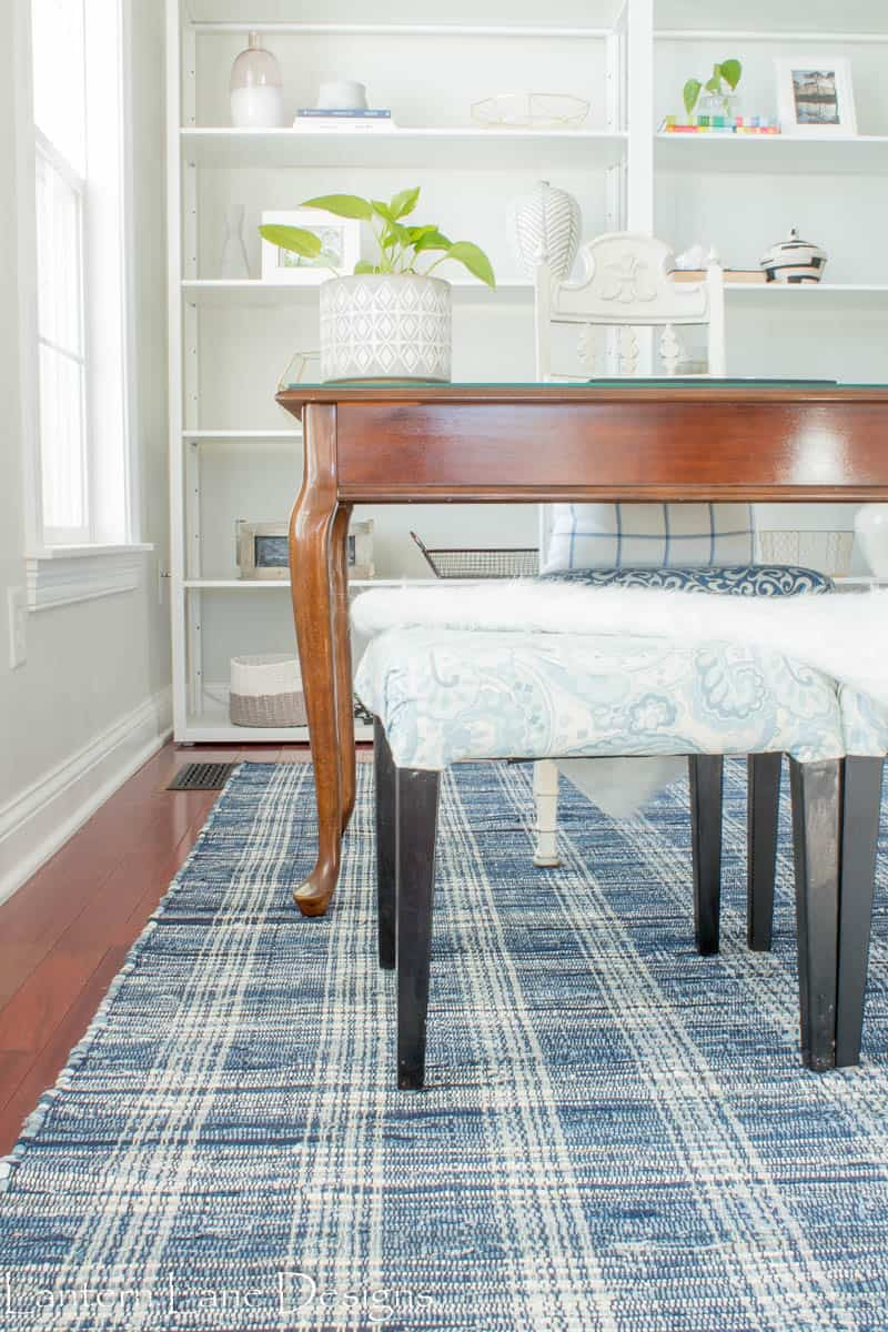 Office Makeover With New Dash and Albert Denim Plaid Rug