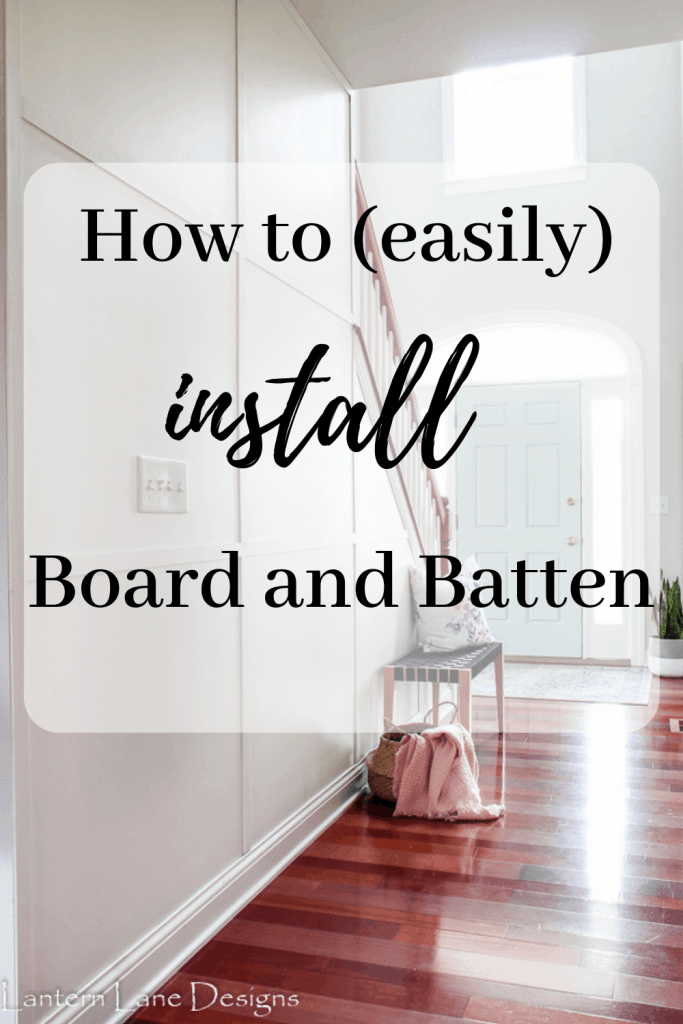How to add board and batten