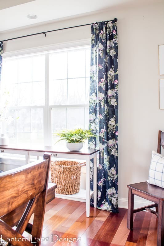 DIY No Sew Curtain With A Pinch Pleat