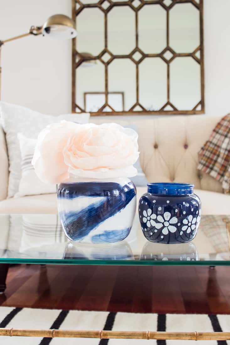 How To Paint Clear Vases To Create Budget Friendly Home Decor