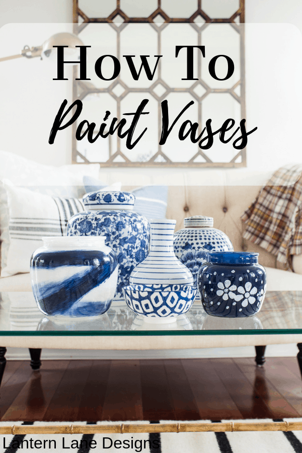 How To Paint Clear Vases