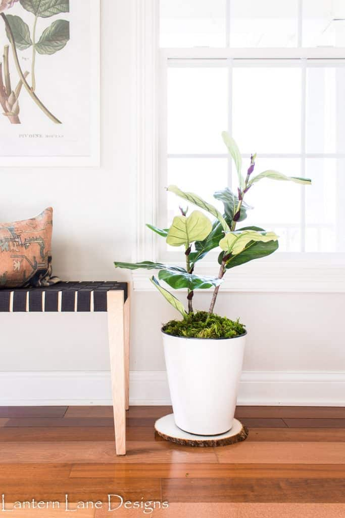 DIY Faux Fiddle Leaf Fig Plant #diyhomedecor #diy