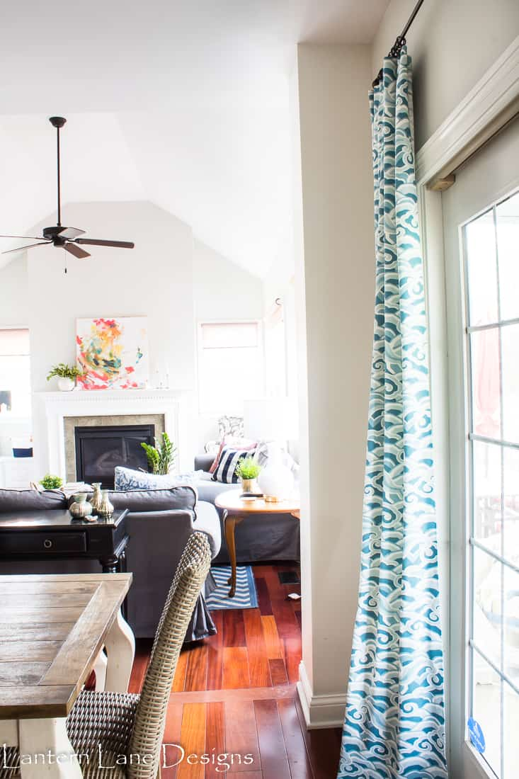 Where to find fabric and how to train your drapes to hang correctly