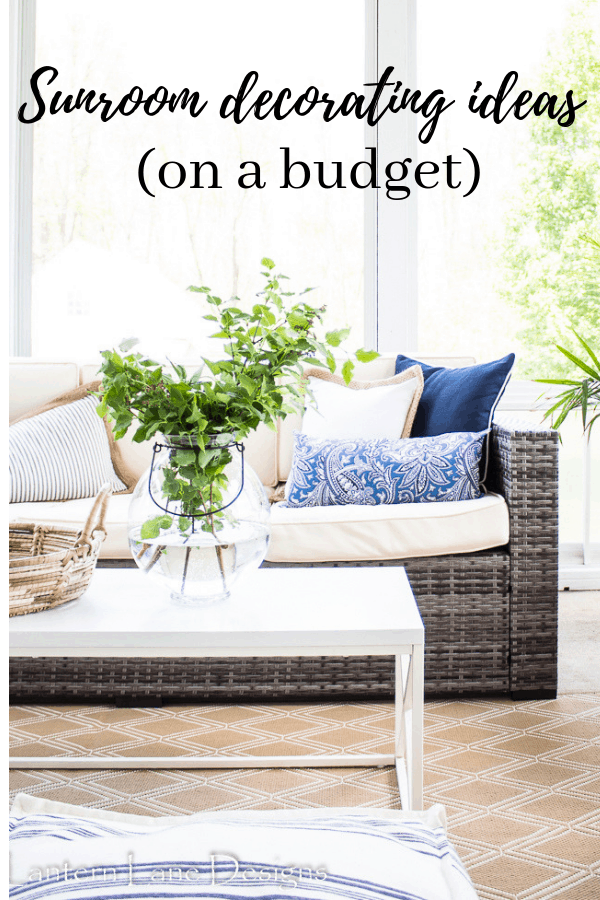 Sunroom decorating ideas on a budget