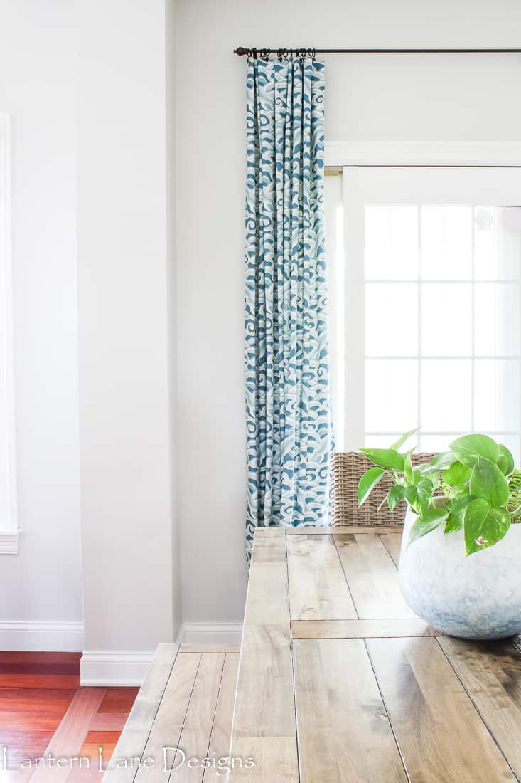 How to train your curtains to hang nicer
