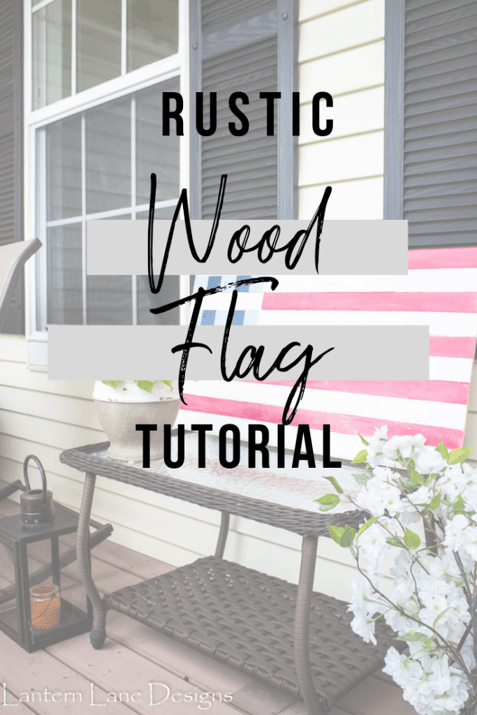 How to make a DIY Wood Flag