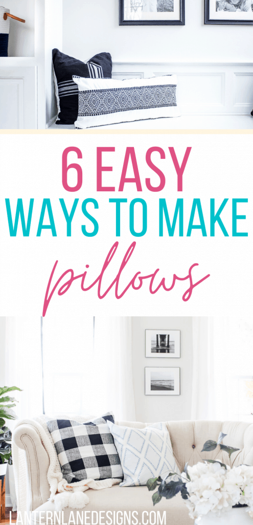 easy ways to make pillows
