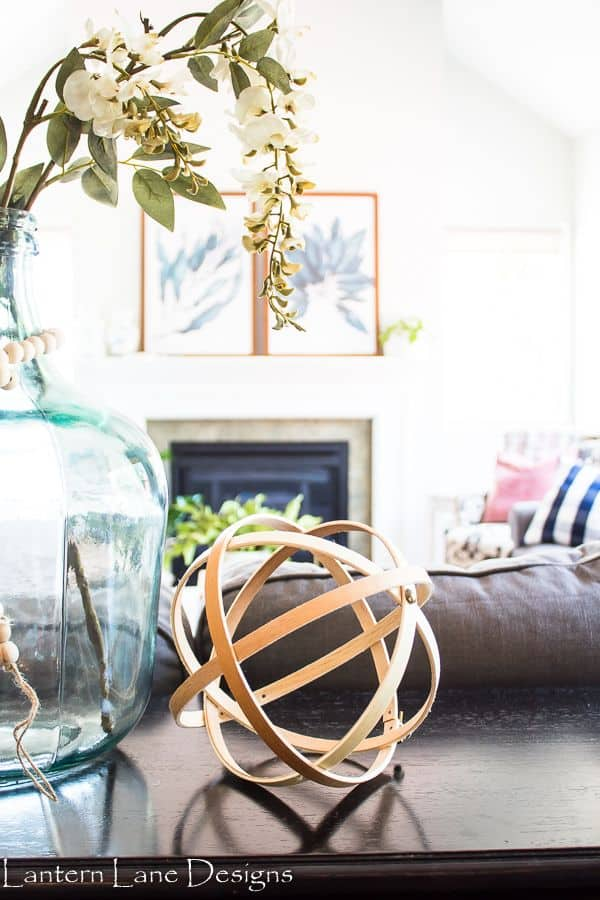 DIY Decorative Orbs Using Embroidery Hoops