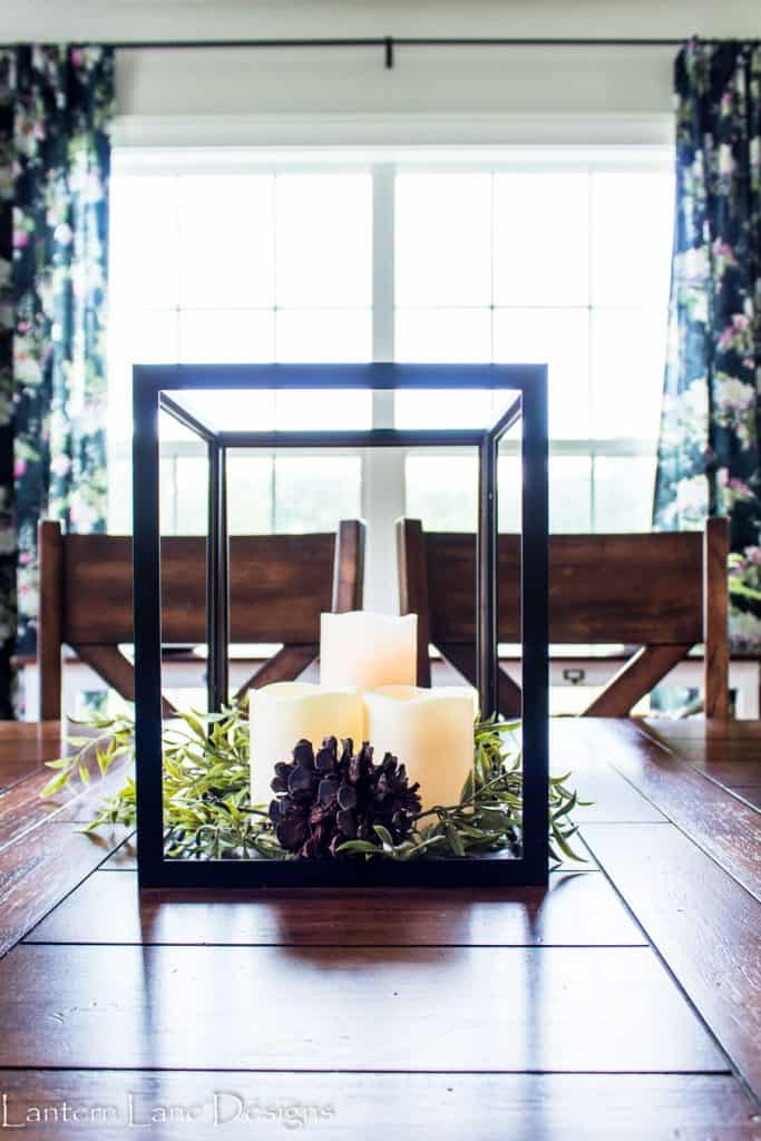 DIY Lanterns|How To Make Lanterns Using Inexpensive Frames #diyhomedecor #diycrafts