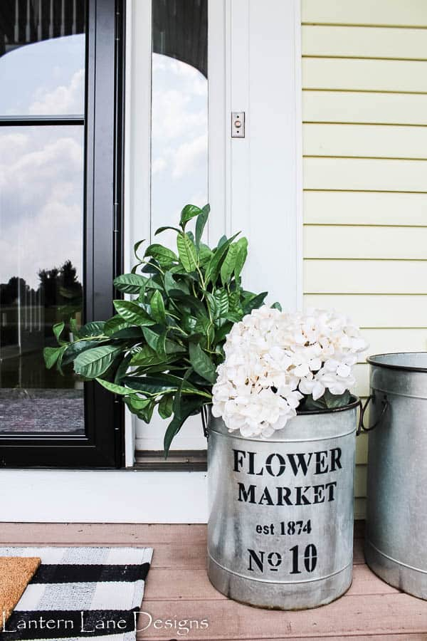 Front Porch Decorating Ideas Using Faux Flowers