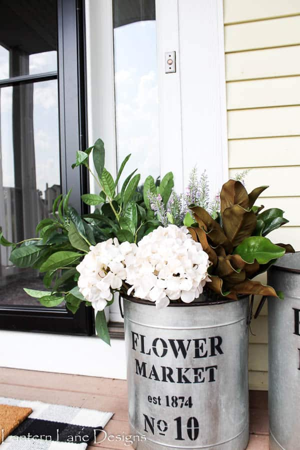 Front Porch Decor Ideas~Decorating With Faux Flowers