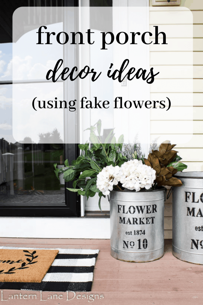 Decorating your front porch using fake flowers