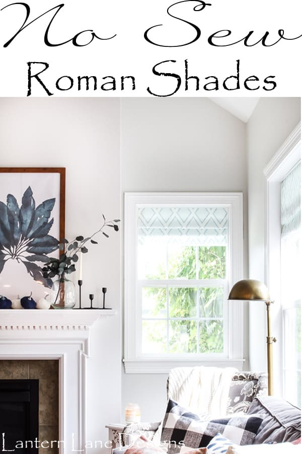 How To Make DIY No Sew Roman Shades With Tension Rods