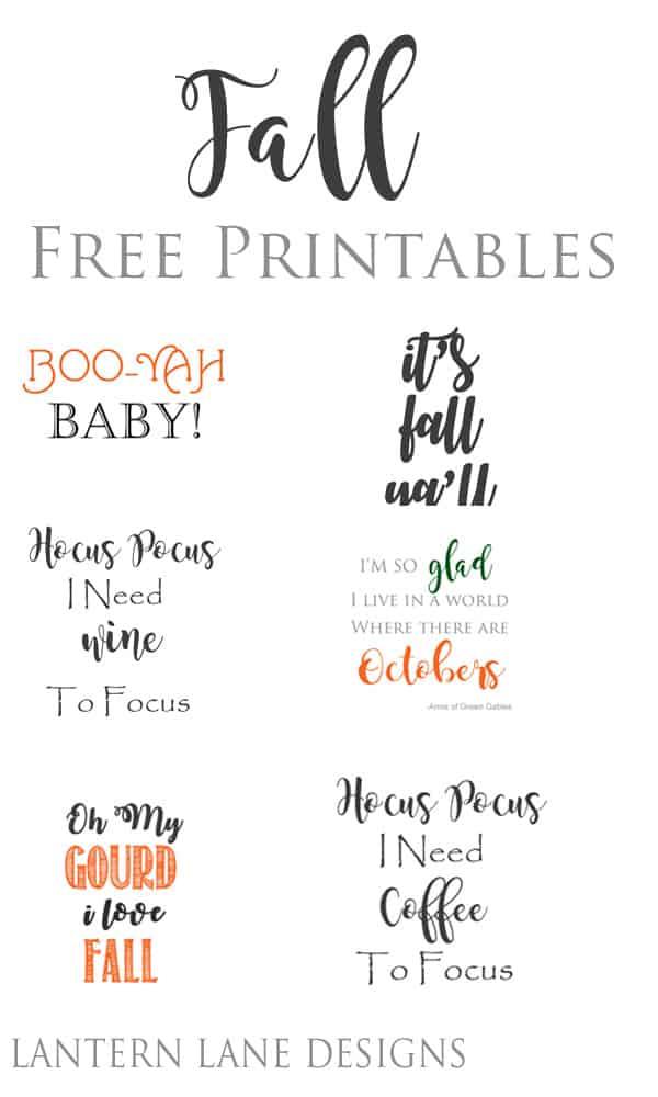 DIY Home Decor|Fall Free Printables For Your Home Decor|#DIY #HomeDecor