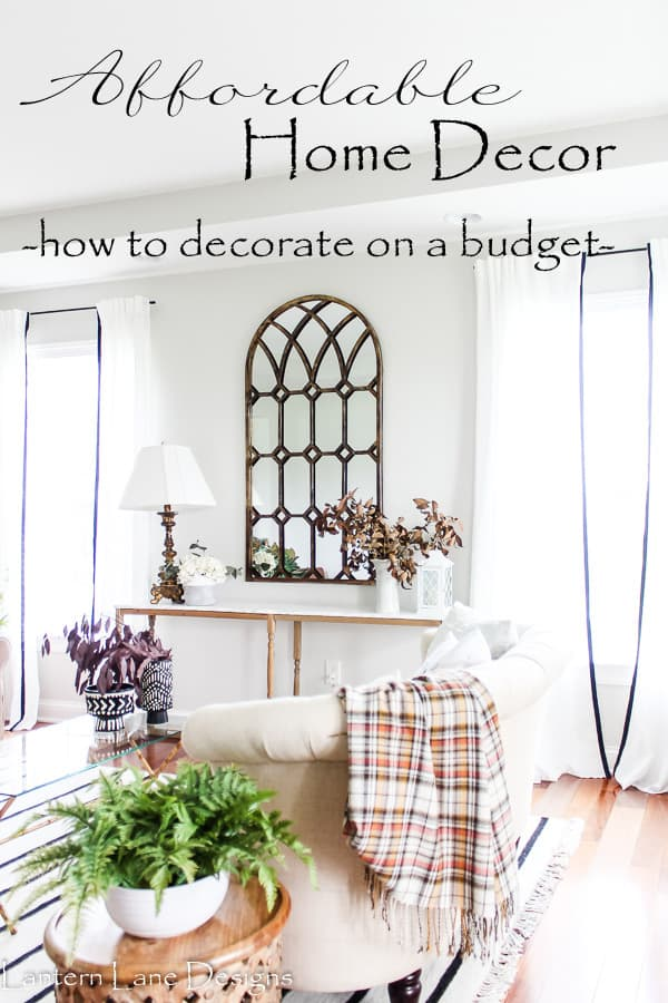 Affordable Home Decor Ideas (Home Decorating On A Budget)