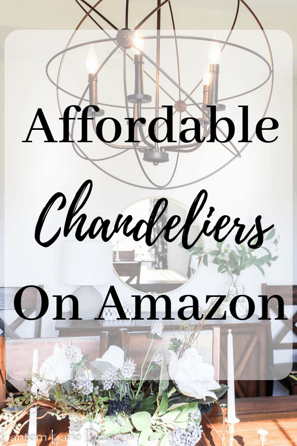Affordable Chandeliers on Amazon