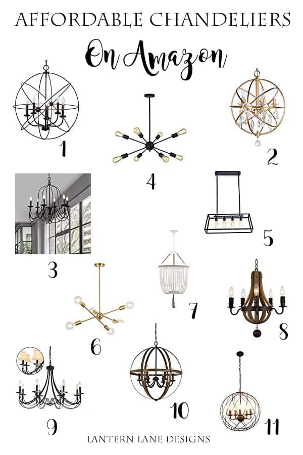 Affordable Chandeliers On Amazon #homedecor