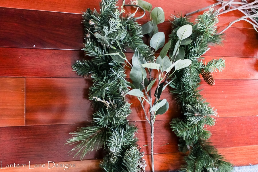 How to add garland to your mantel