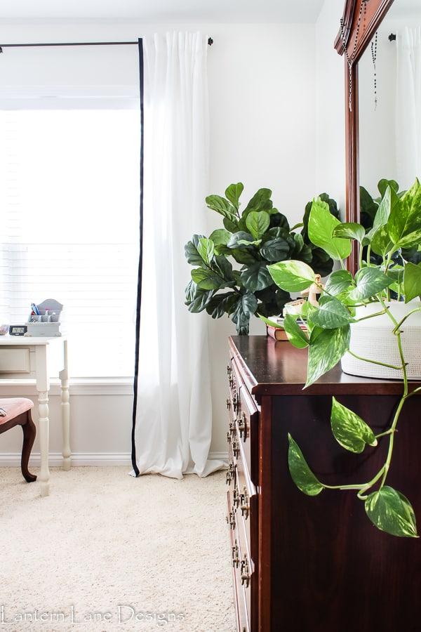Tween Bedroom Makeover Using Ikea Curtains