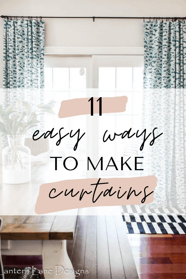 easy ways to make your own curtains