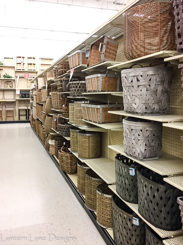 Baskets at Hobby Lobby