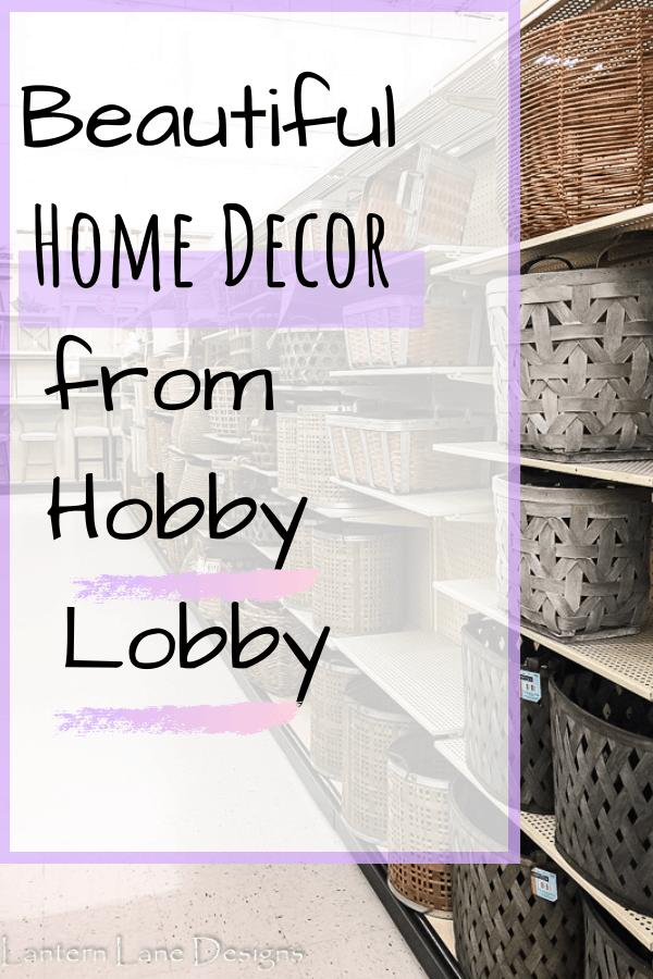 Home Decor From Hobby Lobby