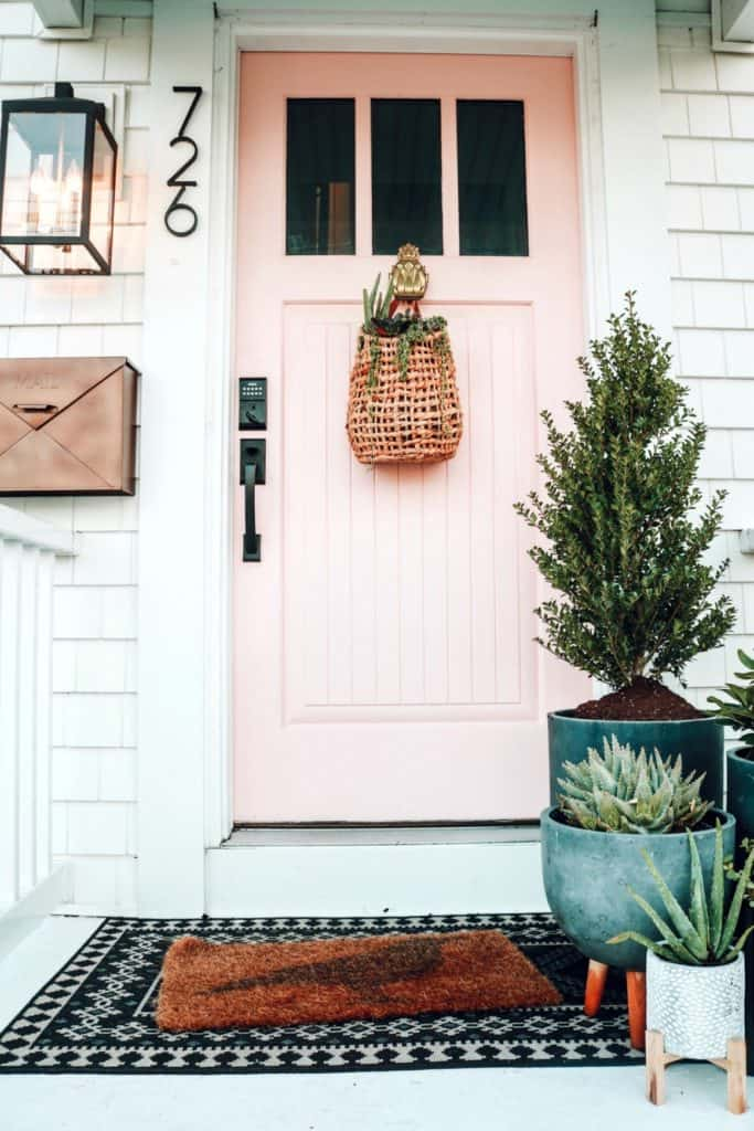 Front porch with succulents