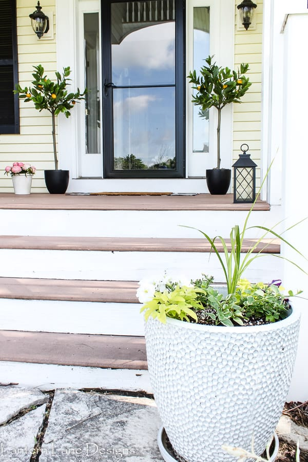 summer front porch with planters