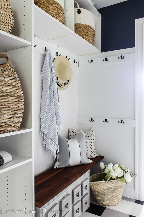 summer mudroom beach hat towel