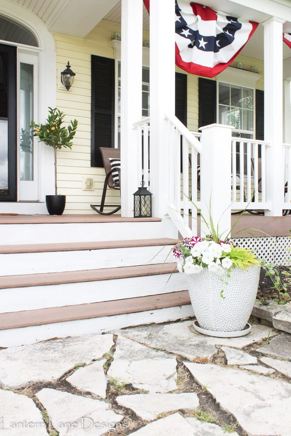 summer front porch planters