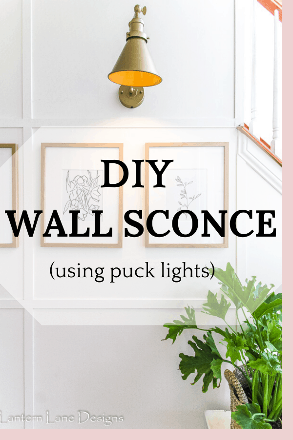 DIY Wall Sconce