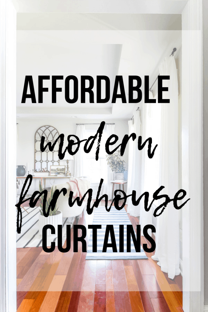 Affordable modern farmhouse curtains