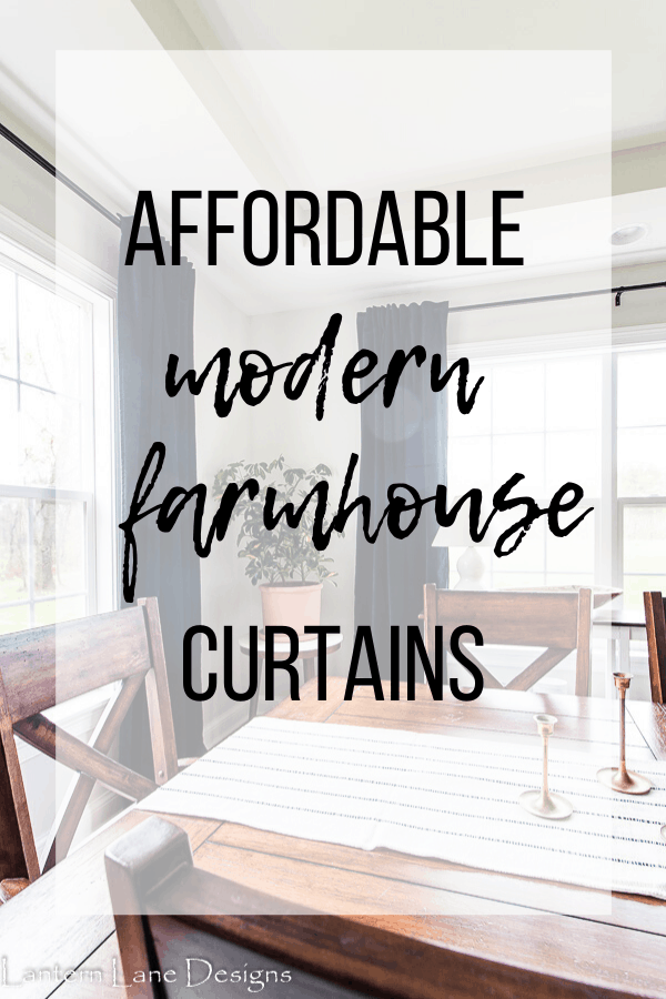 Affordable Modern Farmhouse curtains