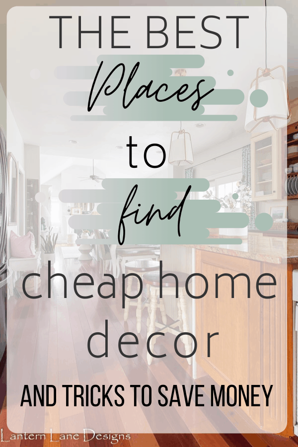 where to find cheap home decor